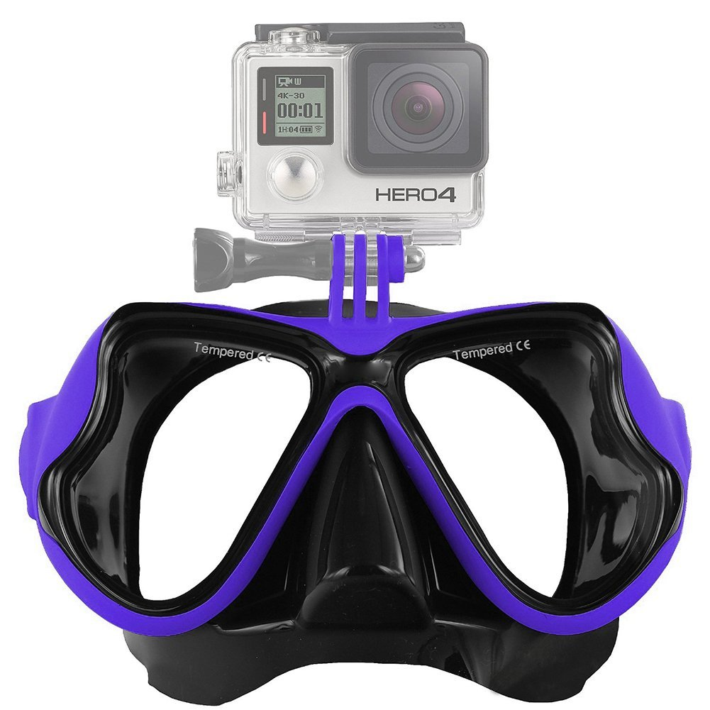 FMASK-LIME Freewell Diving Mask Blue สำหรับ GoPro สีน้ำเงิน