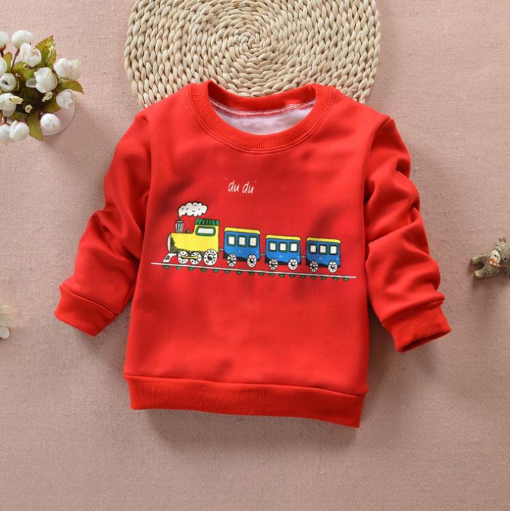 **เสื้อแขนยาวรถไฟสีแดง size= S-M-L | 3ชุด/แพ๊ค | เฉลี่ย 150/ชุด