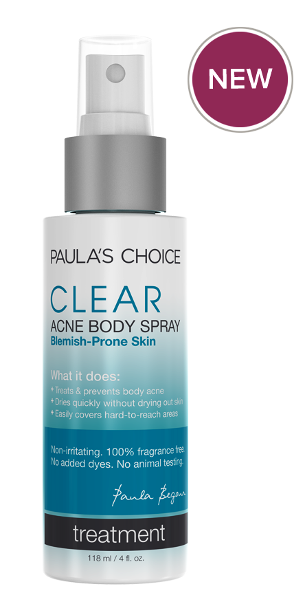 PAULA'S CHOICE CLEAR Acne Body Spray with 2% Salicylic Acid