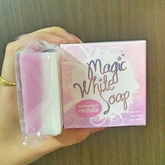 สบู่Magic white soap สบู่ เมจิกไวท์ ผลัดเซลผิวขาว