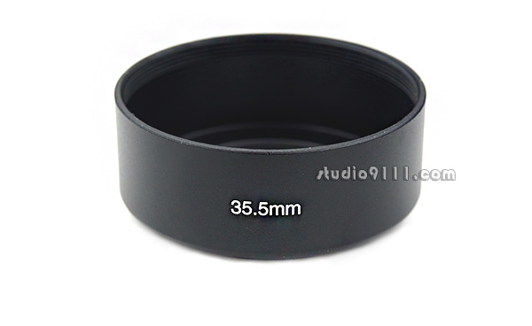 HOOD โลหะ ขนาด 35.5mm สีดำ