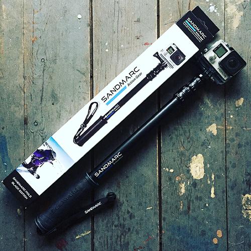 ไม้ Selfie SANDMARC Pole Black Edition สำหรับกล้อง GoPro Hero4, Hero3+ & Hero3 รุ่นใหม่พร้อม Clip Remote Wifi