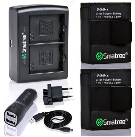 ชุด Set Battery ความจุ 1290mAh สำหรับกล้อง GoPro Hero3+, Hero3