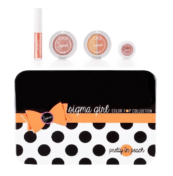 ลด 20 % SIGMA :: Color Pop Makeup Kit - Pretty in Peach ชุดแต่งหน้า สีสันสดใส Pretty in Peach คอเล็คชั่นใหม่จาก Sigma