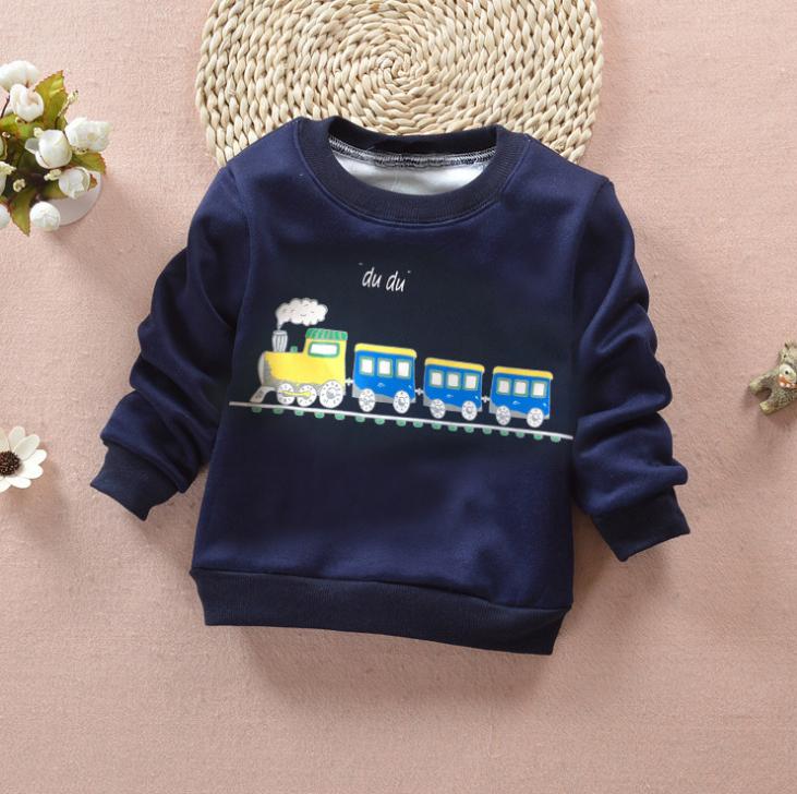 **เสื้อแขนยาวรถไฟสีน่ำเงิน size= S-XL | 4ชุด/แพ๊ค | เฉลี่ย 150/ชุด