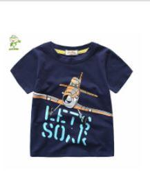**เสื้อยืดลายเครื่องบินสีน้ำเงิน 90-130 (5pcs/pack) | 5ตัว/แพ๊ค | เฉลี่ย 85/ตัว