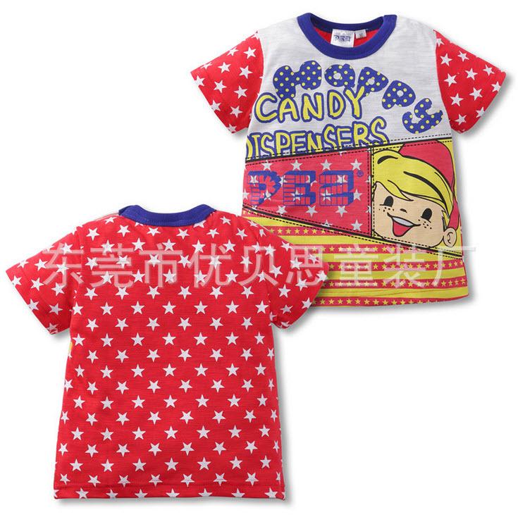**เสื้อยืดดาว | แดง | 90-130 | 5ตัว/แพ๊ค | เฉลี่ย 85/ตัว