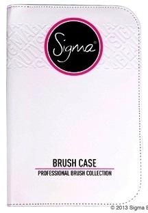 ลด 20 % SIGMA :: Brush Case - White กระเป๋าหนังใส่แปรงสีขาว สุดหรู เงางาม ทันสมัย สามารถใส่แปรงทุกขนาดได้ถึง 29 ชิ้น