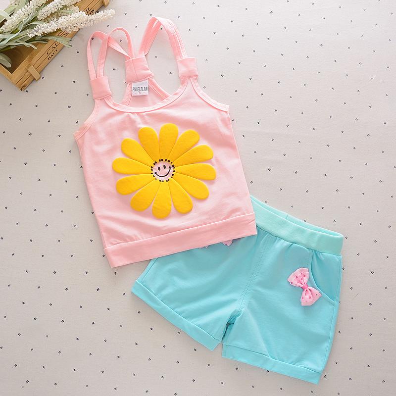 **ชุดเซ็ตกางเกงสีฟ้าเสื้อสีชมพูดอกทานตะวันตามรูป size= S-XL(4 pcs/pack) | 4ตัว/แพ๊ค | เฉลี่ย 130/ตัว