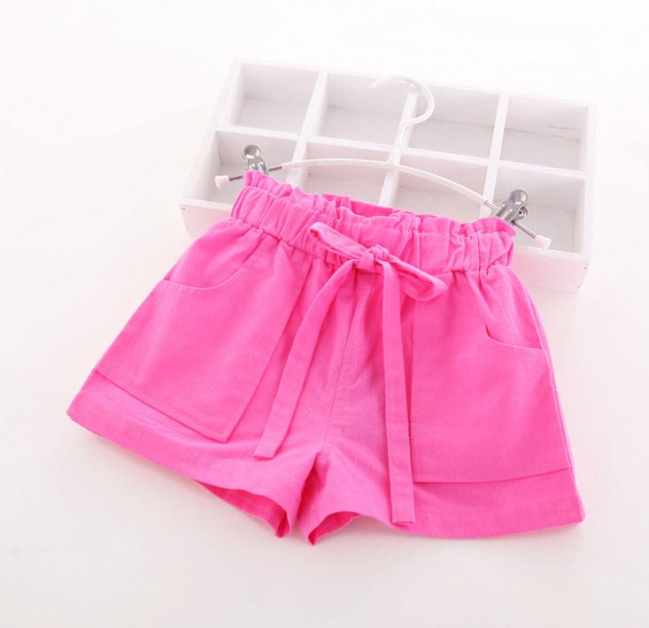 **กางเกงขาสั้น | ชมพู | 100-140 | 5ตัว/แพ๊ค | เฉลี่ย 165/ตัว