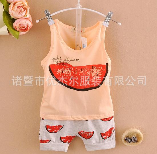 **ชุดเซ็ตเสื้อกล้ามแตงโม   ส้ม   S,M,L,XL   4ชุด/แพ๊ค   เฉลี่ย 145/ชุด