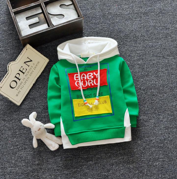 **เสื้อแขนยาว Baby Guru มีหมวก สีเขียว size= 8-10-12-14 | 4ตัว/แพ๊ค | เฉลี่ย 200/ตัว