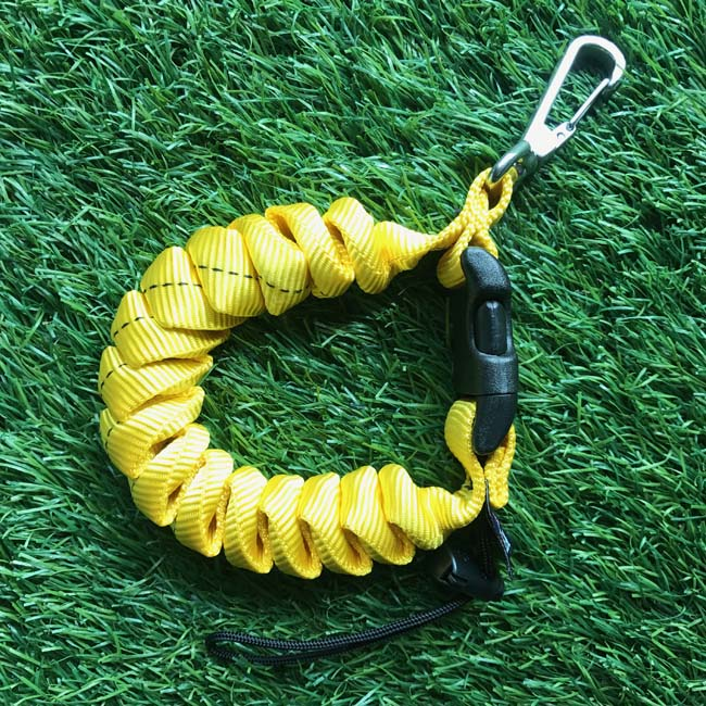 CRL3HD-BLK Cetacea Housing Heavy Duty Coiled Lanyard Yellow สีเหลือง