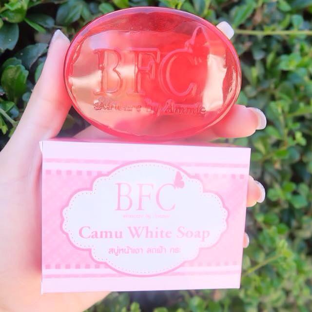 สบู่คามู คามู (สบู่หน้าเงา ลดฝ้า กระ) Camu White Soap by BFC