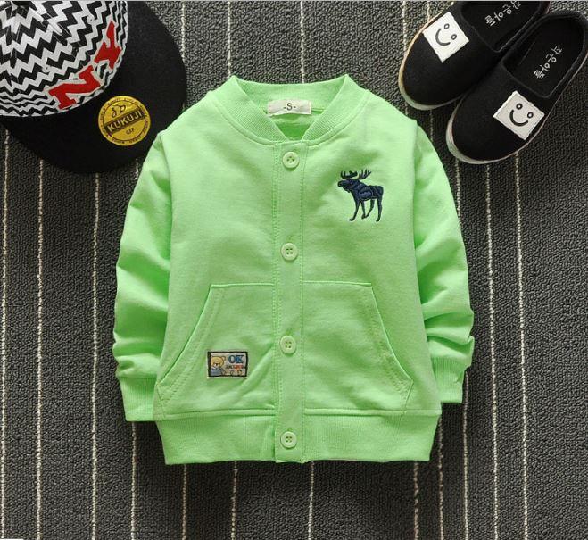 **เสื้อแขนยาวรูปกวาง สีเขียว | เขียว | S-XL | 4ตัว/แพ๊ค | เฉลี่ย 150/ตัว