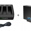 Smatee Charger สามารถชาร์จได้ 3 ช่อง + แบตเตอรี่ GoPro Hero5 แท้ 1 ก้อน แบบเซ็ท