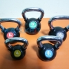 Rubber Kettle Bell Chrome Handle