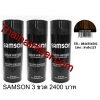 Samson ผงเคราตินใส่ผมหนาแบบมีขวด 84gr (สีน้ำตาลเข้ม)