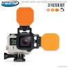 FLIP4 Three Filter Kit with SHALLOW, DIVE & DEEP Filters for GoPro 3, 3+, 4
