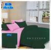 ผ้าปูที่นอนสีพื้น เกรด A สีเขียวเข้ม ขนาด 6 ฟุต 5 ชิ้น