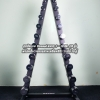 ชุดดัมเบล Chromed ขนาด 1 - 10 KG. (10 คู่) พร้อมชั้นวางทรงสามเหลี่ยมสีดำ วางได้ 10 คู่