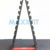ขาย ขาตั้งดัมเบลทรงสามเหลี่ยม 10 คู่ สีดำ-แดง MAXXFiT รุ่น RK306 B
