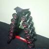 ชุดดัมเบล MAXXFiT ขนาด 5 - 30 LBS. (6 คู่) พร้อมชั้นวางทรงสามเหลี่ยมสีดำ-แดง วางได้ 6 คู่