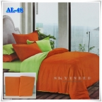 ผ้าปูที่นอนสีพื้น เกรด A สีส้มเข้ม ขนาด 5 ฟุต 5 ชิ้น