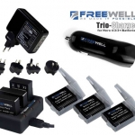FREEWELL CHARGING KIT FOR GOPRO 3/3+/4 WITH BATTERY x 3PCS สำหรับ GoPro Hero4