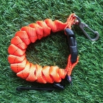 Cetacea Housing Heavy Duty Coiled Lanyard Orange สีส้ม