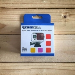 Freewell Multi Scuba Diving Filter (Red Filter) Set สำหรับกล้อง GoPro Hero4/3+ Shallow,Dive,Deep,Magenta,Night Sea(UV Light)