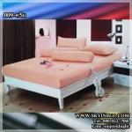 ผ้าปูที่นอนสีพื้น (สีครีม)(พื้นเรียบ) ขนาด 5 ฟุต 5 ชิ้น