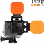 FLIP5 Three Filter Kit with SHALLOW, DIVE & DEEP Filters เป็น Red Filter สำหรับกล้อง GoPro Hero5 ฺBlack, 4, 3, 3+ สำเนา