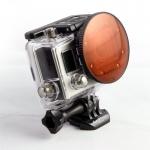 SRP BlurFix3 SO Adapter หน้า 55mm กับ CYD Filter (Red Filter) สำหรับกล้อง GoPro Hero3