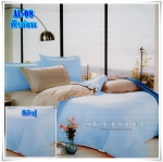 ผ้าปูที่นอนสีพื้น เกรด A สีฟ้าอ่อน ขนาด 6 ฟุต 5 ชิ้น
