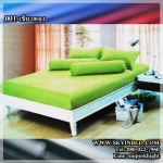 ผ้าปูที่นอนสีพื้น (สีเขียวตอง)(พื้นเรียบ) ขนาด 3.5 ฟุต 3 ชิ้น