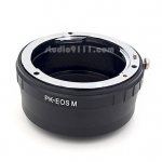 อแดปเตอร์แปลงท้ายเลนส์ PK (PENTAX) ใช้กับกล้อง CANON EOS M