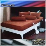 ผ้าปูที่นอนสีพื้น (สีน้ำตาลเข้ม)(พื้นเรียบ) ขนาด 3.5 ฟุต 3 ชิ้น