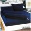 ผ้าปูที่นอนสีพื้น (สีน้ำเงินกรมท่า)(พื้นเรียบ) ขนาด 6 ฟุต 5 ชิ้น thumbnail 1